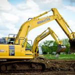 Excavators in actions