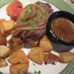 Grilled Onion Sirloin dinner - delicious