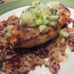 Cedar Grilled Lemon Chicken with Granny Smith apple relish - amazing