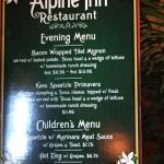 The menu -- only two options