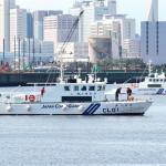 試験航海をおこなう巡視艇