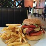 Huge Burger and homemade fries...