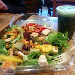 Salad and smoothies
