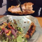 Tonkatsu Chicken is my partners favourite! I love the Aburi (lightly grilled) Salmon Sushi.