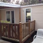 mobil-home 2 chambres avec terrasse semi-couverte