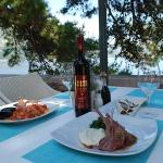 Enjoy your dinner by the adriatic