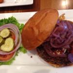 blue ribbon burger from Five Star Burger