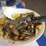 Gebratene Sardinen ungeniessbar