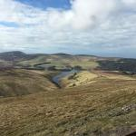 Sulby Reservoir from Snaefell Railway