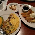 Delicious prime rib last night became perfect omelette for brunch. Thanks server Akil, chef Crys