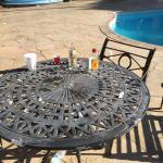Lovely pool side dining : (