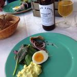 Spiste et lækkert måltid. Nationalparkplatte. Hjemmelavede snapse og rigtig godt øl fra Hundborg