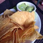 Great guacamole & in house made chips!