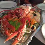 Lecker Languste mit französischem Salat