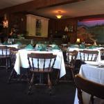 Inside large dining room, pleasant atmosphere:-)