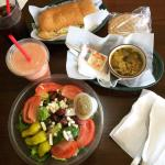 Greek Salad, Tropical Smoothie, Ham & Cheese Hogie, and Italian Wedding Style Soup