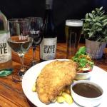 Monday night Schnitzel night $20 with a house wine (Sauv Blanc , Shiraz or sparkling white) or a