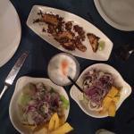Ceviche Mixto, Ceviche de Pescado, and Pisco Sours