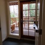 double doors to porch