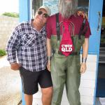 Outside shop saying Hi to Mr Hairy