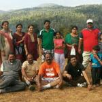 Group photo of all of us visited jungle greens resort home stay  Chikmagalore
