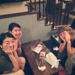 con Kunie y Minami en IZA