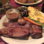 Flat Iron stake and Double Baked Potato, Cell Block Steak House, Ely, Nevada