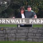 Cornwall Park is right across the road. We also walked the summit One Tree Hill