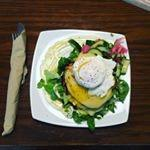 Poached eggs and gubbeen ham and cheese breakfast delight!