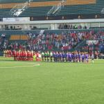 Sahlen Stadium - teams at start of game