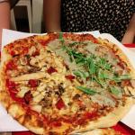 Pizza mediana de pollo/trufa