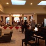 buffet table and fantastic piano accompaniement