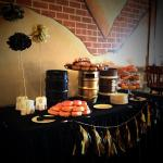 Here is a display at one of our catering events in our beer hall (banquet space)