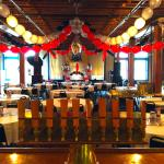 Here is a photo of our beer hall decorated for an event!