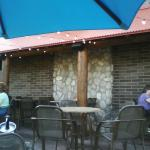 The outdoor patio.