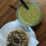 choco biscuit and smoothie
