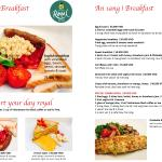 New Breakfast Menu. Start your day royal!