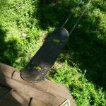 The skateboard was a let down. It only travels with you for about 25ft,