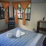 Jungle view room with one queen size bed.