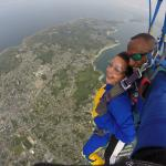 après ouverture du parachute