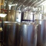 Stainless steel wine vats
