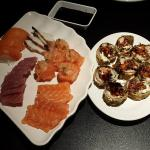Sashimi, delicioso Joe, hot holl!