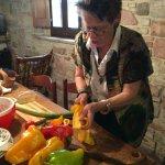 slicing peppers ala farmwife..