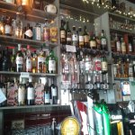 a well stocked bar at the costigans pub washington st.