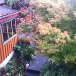 Chalet style in autumn leaves