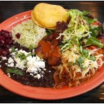 Teote Plate with Pabellon Arepa