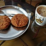 Aforementioned coffee and cutlets
