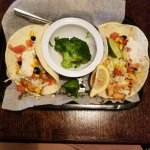 Fish tacos with broccoli