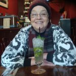 Gretchen enjoys a mojito at Lincoln Inn.