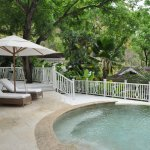 Our patio and private pool